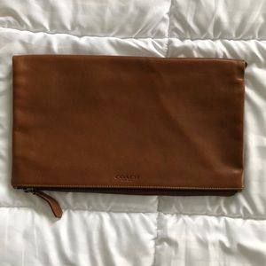 Coach Large Leather Saddle Clutch